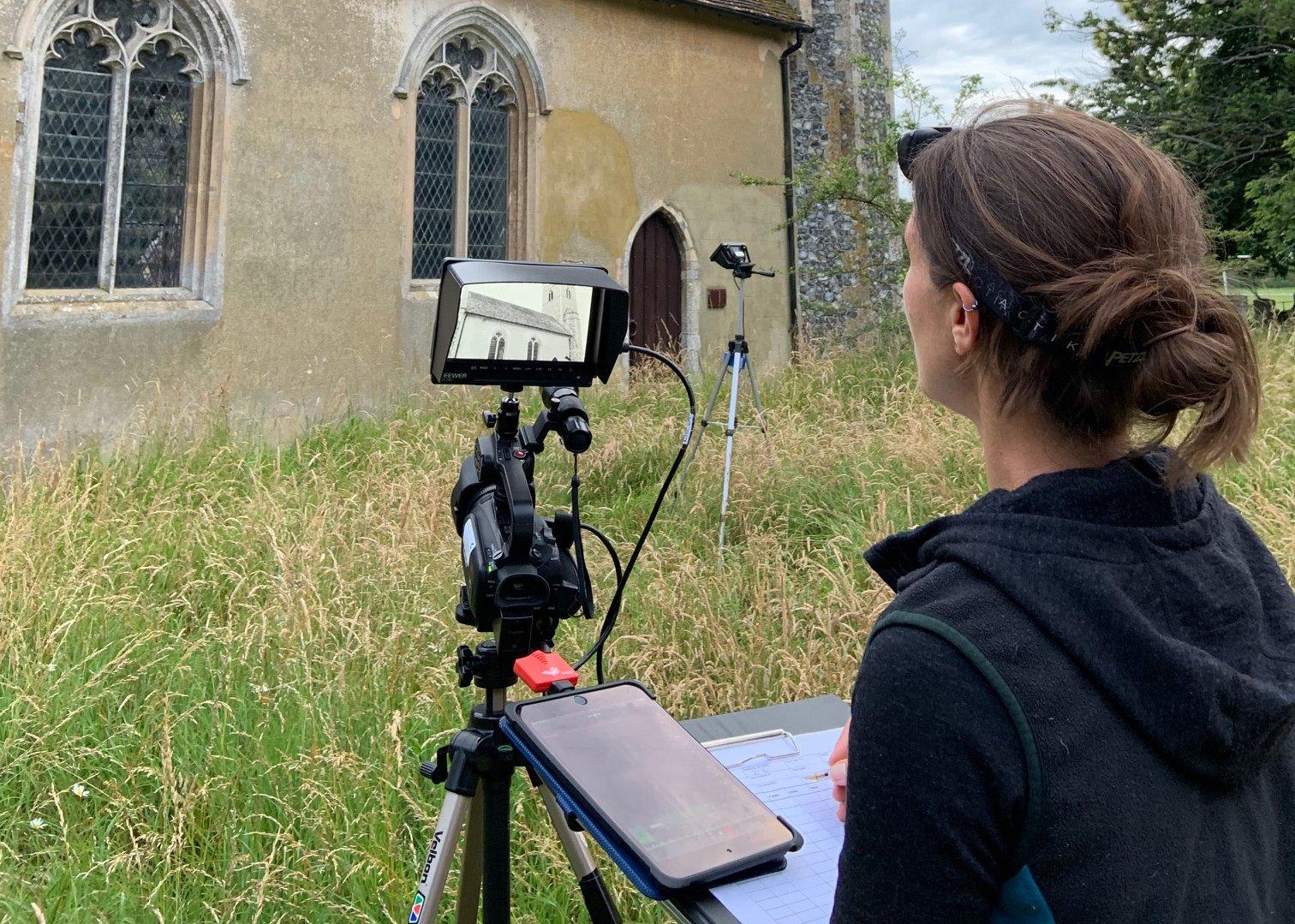 Expert ecologist Dr Lotty Packman surveys for bats