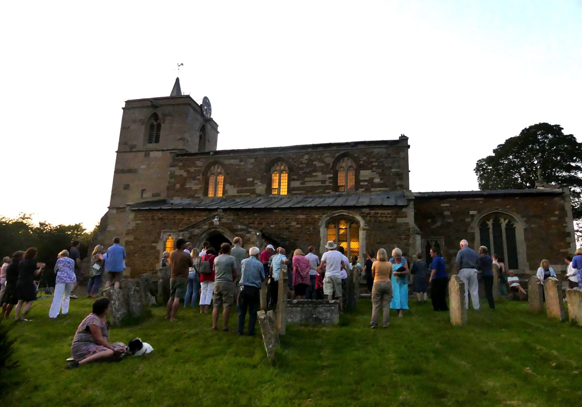 The very well attended Beer & Bats night at All Saints Church, Braunston-in-Rutland